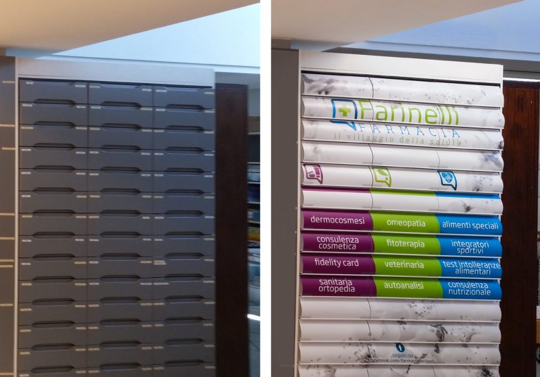 Farmacia Farinelli prima e dopo Iride